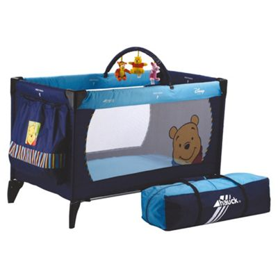 buy hauck winnie the pooh travel cot blue from our travel. Black Bedroom Furniture Sets. Home Design Ideas