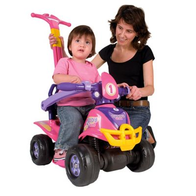 Injusa 4-in-1 Quad Bike Ride-On, Pink