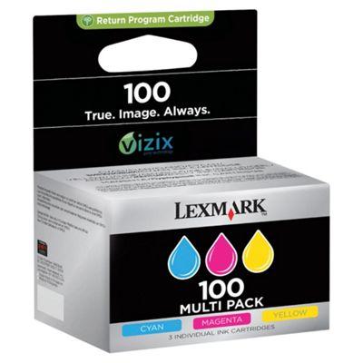 Lexmark 3-Pack 100 Colour (CMY) Return Program Ink Cartridges