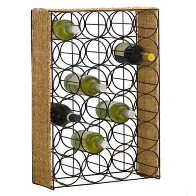 Tesco Seagrass Wine Rack - 24 Bottles