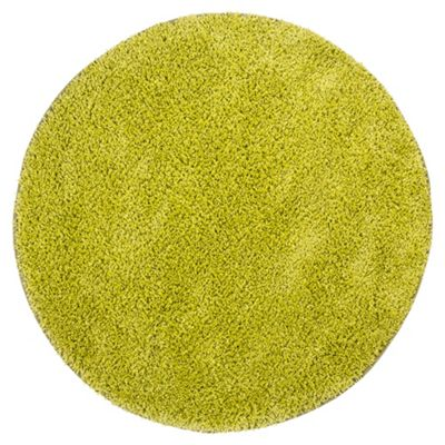 Tesco Rugs Circle Shaggy Green