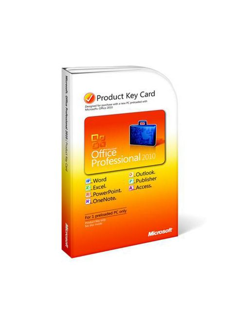 Microsoft Office Professional 2010 Product Key Card