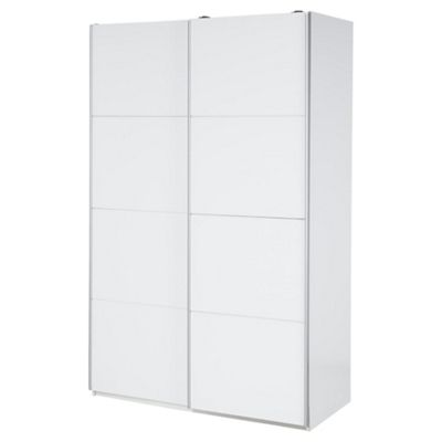 Smith Sliding Double Wardrobe, White