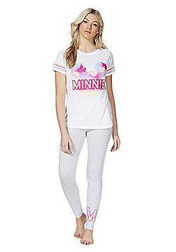 Disney Minnie Mouse Applique Pyjamas - White Multi