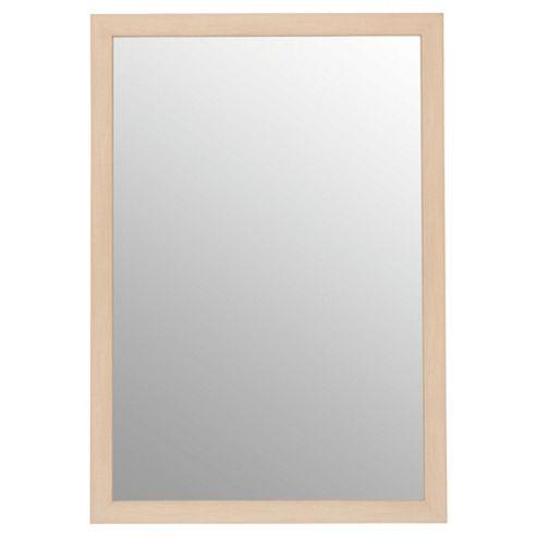 Basic Mirror - Beech Effect 84x57cm