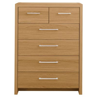 Manhattan 6 Drawer Chest, Oak Effect