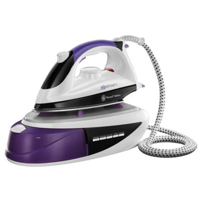Russell Hobbs 14863 Stainless Steel Plate Steam Generator Iron - Black