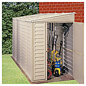 Store More Sidemate Lean-To Plastic Shed with foundation Kit, 4x8ft