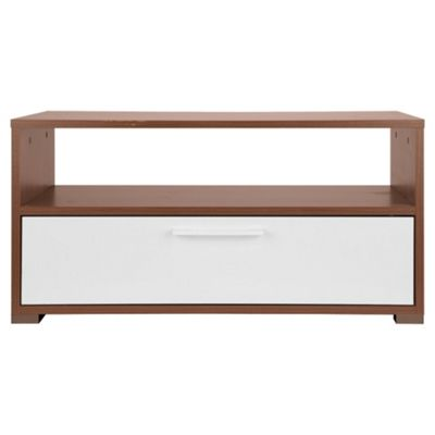 Como Coffee Table, Walnut & White