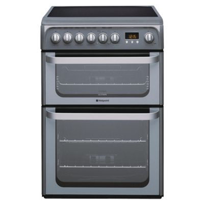 Hotpoint HUE61G Graphite Electric Cooker