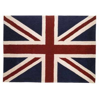 Tesco Rugs Union Jack Rug 120X170Cm Red/Blue
