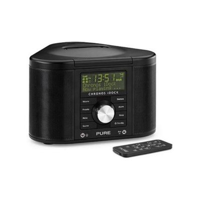 PURE CHRONOS iDOCK II MP3/DAB/DAB+/FM ALARM SYSTEM WITH iPOD DOCK (BLACK)