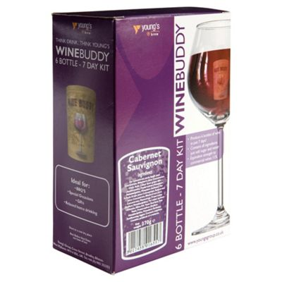 WineBuddy 7 day Cabernet Sauvignon Kit, 6 bottles