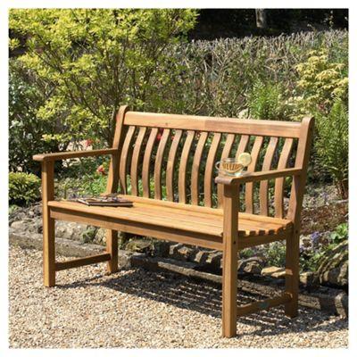 Alexander Rose Acacia Wooden Bench 4ft