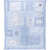 Obaby B is for Bear 2 Piece Quilt and Bumper Set in Blue - Blue
