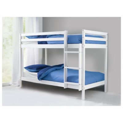 Buy Ashley Pine Shorty Twin Bunk Bed, White from our Kids ...
