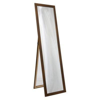 Basic Cheval Mirror - Dark Wood Effect