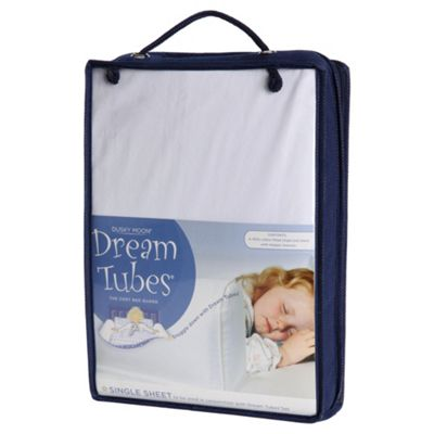 Dream Tubes Single Bed Spare Cotton Sheet, White