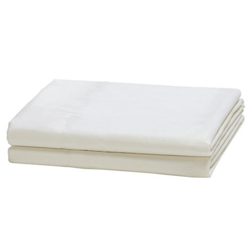 Tesco Twin Pack Oxford Pillowcases, Cream