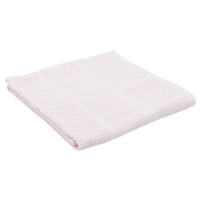 Tesco Cellular Cot/Cot Bed Blanket, Pink