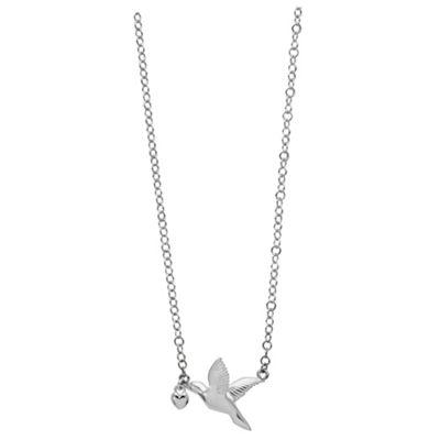 Sterling Silver Hummingbird Pendant, 41cm+5cm Extender