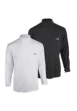 Woodworm Roll Neck Golf Shirt 2 Pack Xl