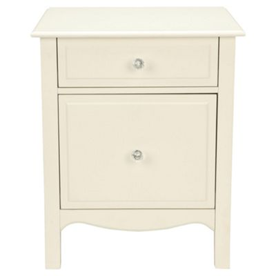Lille 2 Drawer Filer, Ivory