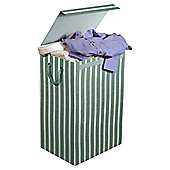 Minky Fabric Laundry Bin, Stripes