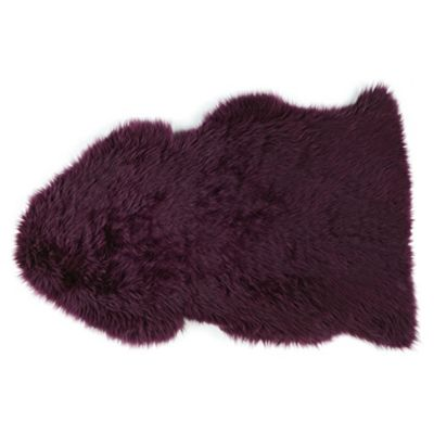 Sheepskin Rug, Plum