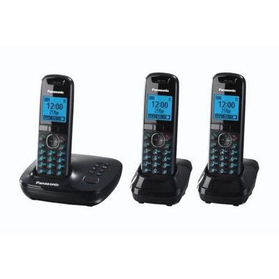 Panasonic KX-TG5523EB Triple Cordless Telephone , Black