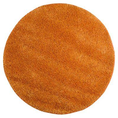 Tesco Rugs Circle Shaggy Rug Orange