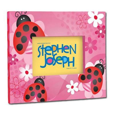 Children's Photo Frames - Pink Ladybug, Girl's Photo Frame, Kids Picture Frames