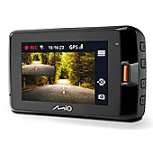 "Mio Mivue 752 WIFI Dual 2.7"" 2560x1440p Quad HD Night Vision GPS Car Dash Camera NEW"