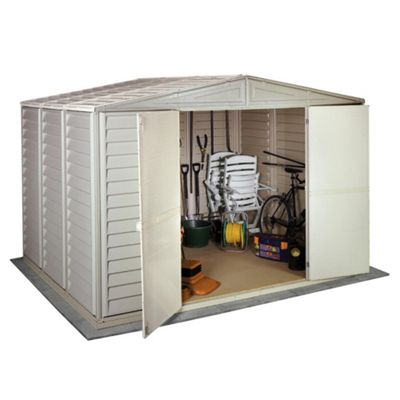 Store More Woodbridge Plastic Apex Shed with foundation kit, 10x8ft