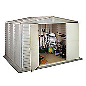 Store More Woodbridge Plastic Apex Shed with foundation kit and skylight, 10x8ft