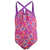 Speedo Sea Squad Infant Kids Thinstrap One Piece Swimsuit Purple/Pink - Pink