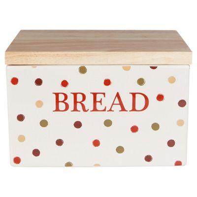 buy tesco terracotta spot bread crock from our bread bins. Black Bedroom Furniture Sets. Home Design Ideas