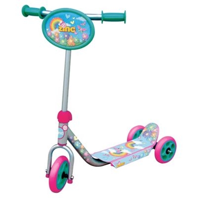 Zinc 3-Wheel Tri Scooter, Silver/Pink