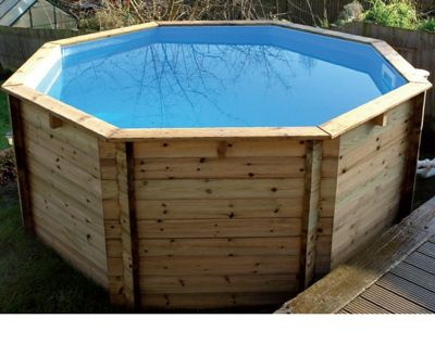 Plastica Octagonal Wooden Fun Pool 10ft x 48