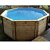 Plastica Octagonal Wooden Fun Pool 10ft x 48""
