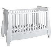 Tutti Bambini Lucas Sleigh Cot Bed, White