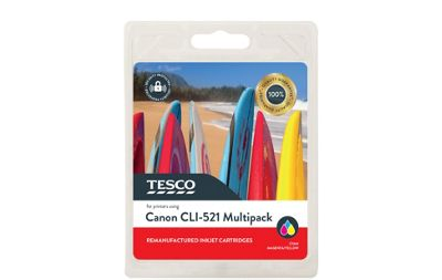 Tesco C521 Printer Ink Cartridge Multipack