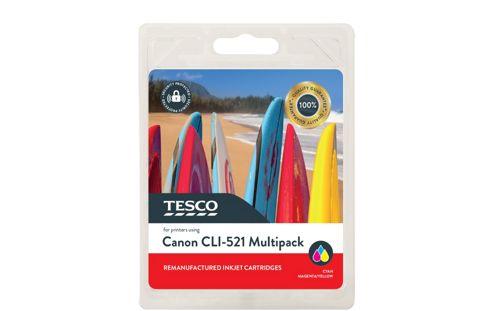 Tesco C521 Printer Ink Cartridge Multipack