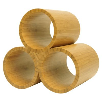 Tesco Bamboo 3 Bottle Wine rack