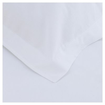 Tesco Twin Pack Oxford Pillowcase, White
