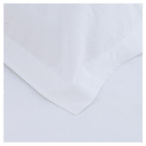 Tesco Twin Pack Oxford Pillowcase, White