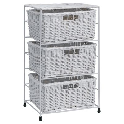Tesco Wicker 3-Drawer Tower