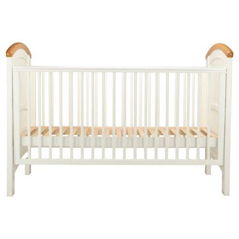 Cosatto Hogarth 3 in 1 Cot Bed, White & Oak