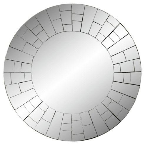 Mosaic Silver Round Mirror