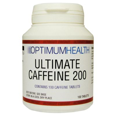 Optimum Health Ultimate Caffeine 200 Tabs 100 x 200mg Tabs